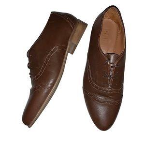 Julia Bo Lenox Oxford brown leather shoes - 39/8.5